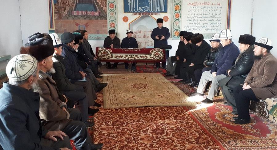 Талас облусунун Манас районунун имамдары бир жылдык отчетторун тапшырышты