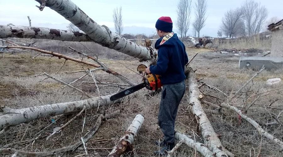 Степной айылынын имамы Магамед Шамырзаев айылдагы жалгыз бой энеге каралашып келет