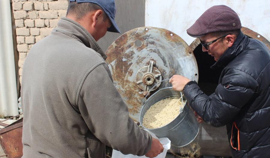 Ат-Башы районунун Казыбек айылынын тургундары Нарын медресесине үшүр жыйнап беришти