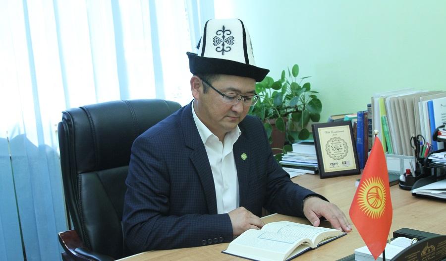 Ысык-Көл облусунун мусулмандар казысы Алмазбек ажы Сагындыков райондун баш имам хатибдеринин жылдык отчетун укту