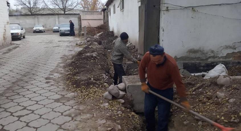 «Жайыл Ата» мечитинин суу түтүгү борбордук канализацияга туташтырылды