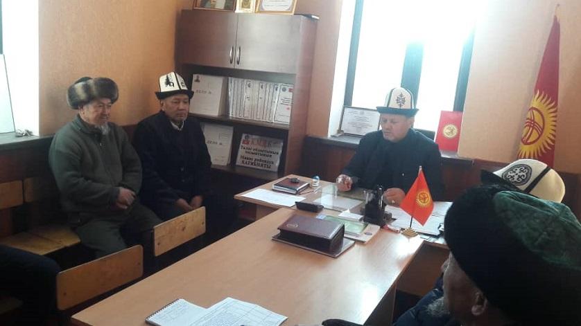 Манас районунун баш имам хатиби имамдардын жылдык отчётун кабыл алды