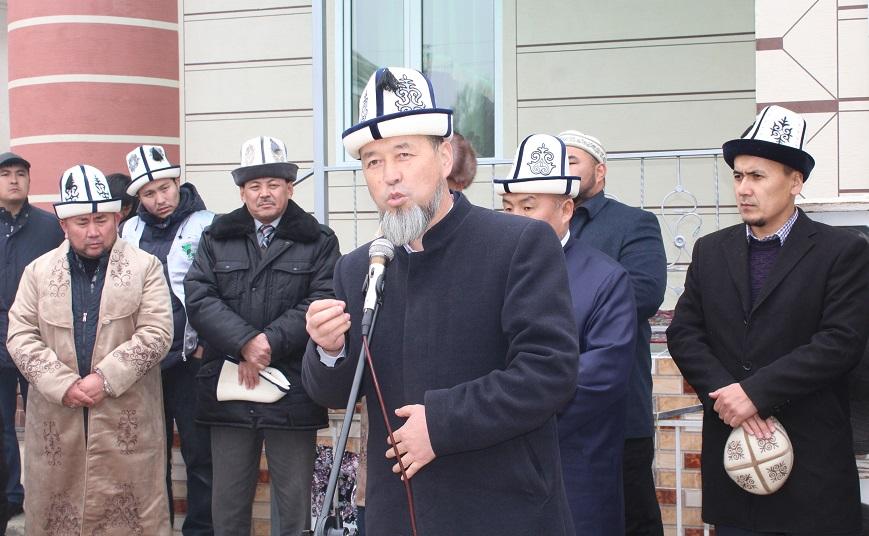 Ош шаарынын Жапалак айылдык аймагында 260 орундуу мечиттин ачылыш аземи болду