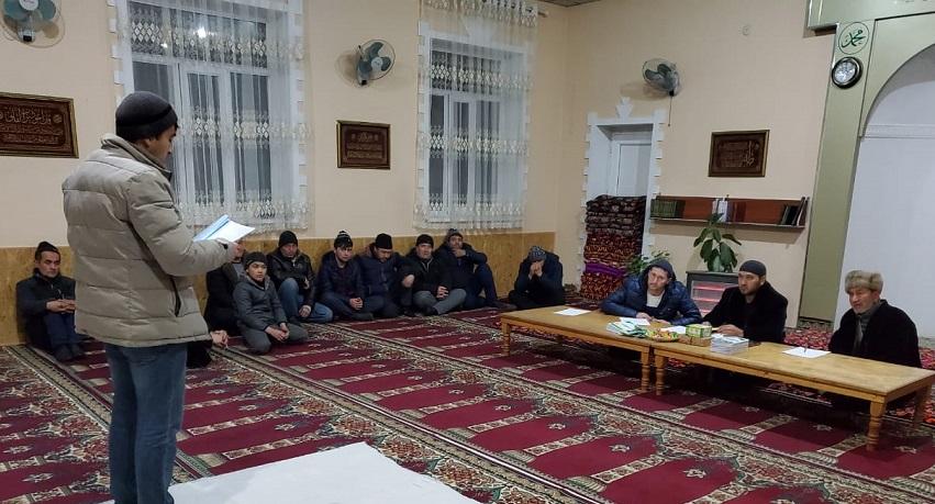 """Ош шаарындагы """"Ашраф Али"""" мечитинин жамааты Куран жарышын өткөрдү"""