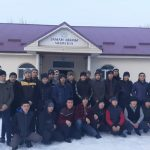 Чолпон-Ата шаарынын баш имам хатиби Абдыразак ажы Балтабаев 2 медресеге 53843 сомдук азык-түлүк тапшырды