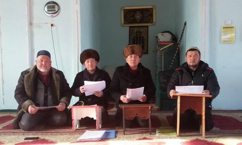 Бакай-Ата районунун баш имам хатиби  Абдимажит ажы Сагынбаев 2020-жылдын иш планын талкууга алды