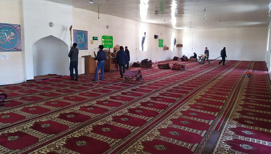 Кара-Кулжа районунда Аз. Билал атындагы борбордук мечитинде тазалоо иштери жүргүзүлдү