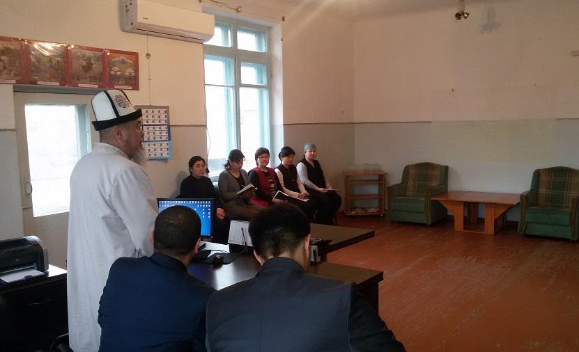 Майлуу-Суу шаарынын баш имам хатиби Социалдык коргоо фондунун кыматкерлери менен жолугушту