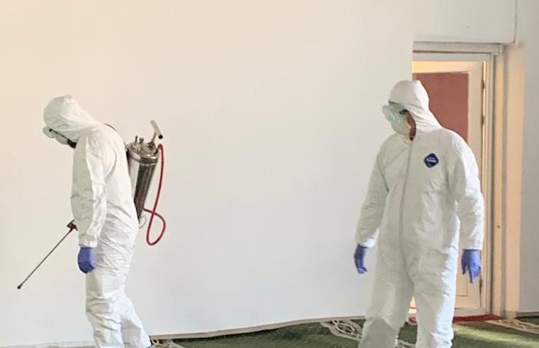 Баткен жана Кызыл-Кыя шаарындагы борбордук мечиттер дезинфекцияланды