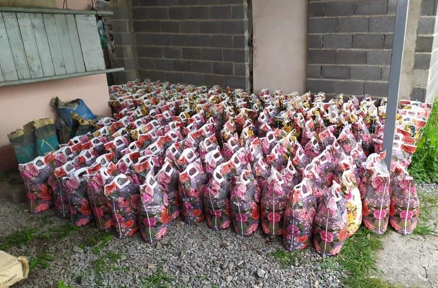 Сарай жана Шарк айылдык аймактарындагы 152 үй-бүлөгө азык-түлүк таратылды