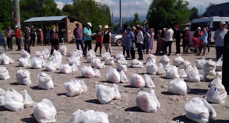 Аламүдүн районунун бир канча айылдарында кайрымдуулук иш-чарасы уюштурулду