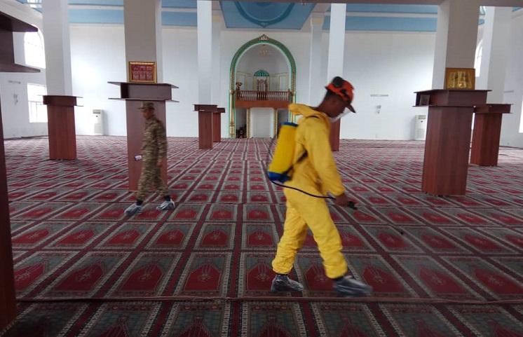 Балыкчы шаарындагы мечиттер дезинфекциялоодон өткөрүлдү