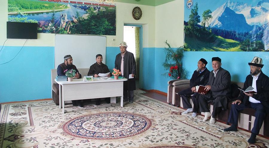 Талас облусундагы баш имамдар отчёт тапшырышты
