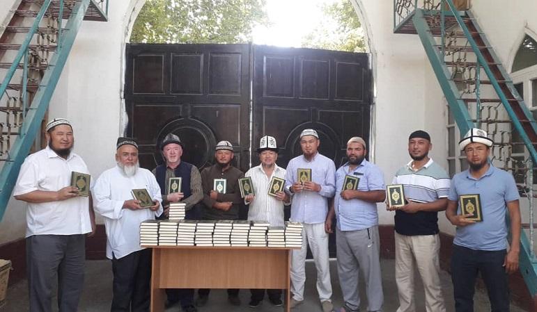 Базар-Коргон районуна берилген Ыйык Куран китептери айыл аймак имамдарына таратылды