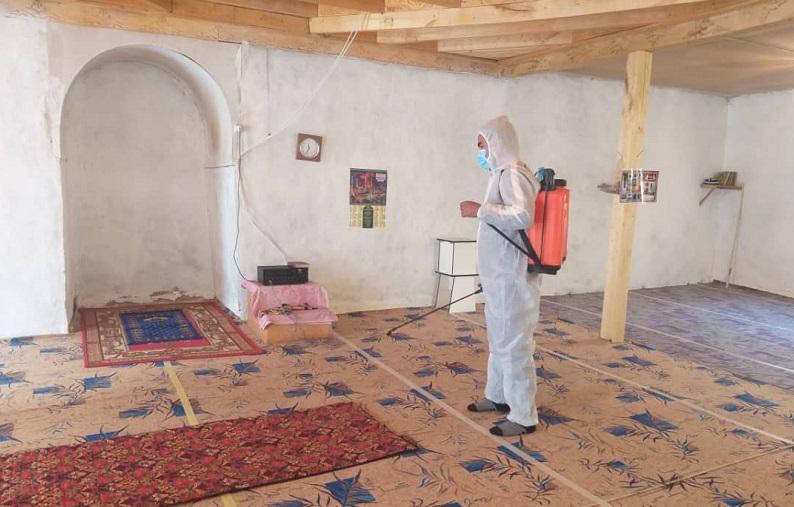 Баткен районунун аймагындагы мечиттерде дезинфекциялоо иштери жүрүүдө