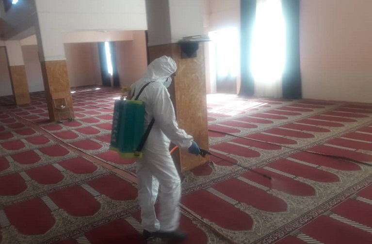 Баткен облусунда мечиттер дезинфекцияланууда