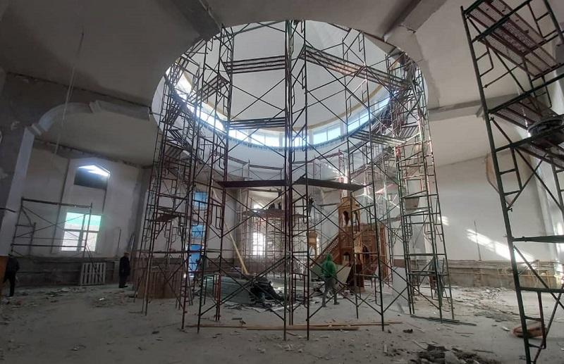 Бишкек шаарык Борбордук мечитинде оңдоп-түзөө иштери кызуу уланууда