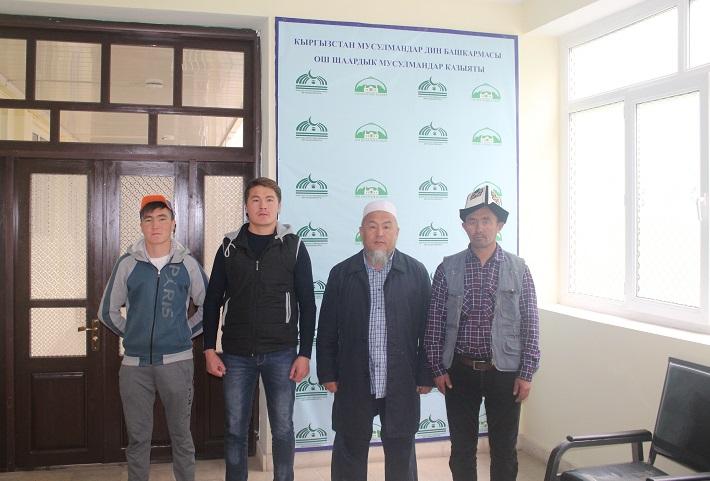Ош шаарынын казысы Убайдулла ажы Сарыбаев памирлик кыргыздар менен жолугушту