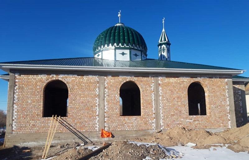 Жети-Өгүз районунда 200 кишиге ылайыкталган мечит курулууда