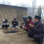 Алексеевка айылындагы мүрзөнүн айланасы тазаланып, жанына даараткана жана керектүү шаймандары коюу үчүн атайын кампа курулду