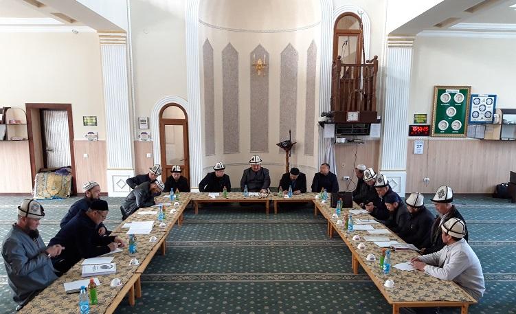 Чүй казыятынын кезектеги көчмө жыйыны «Нур-Ислам» мечитинде өткөрүлдү