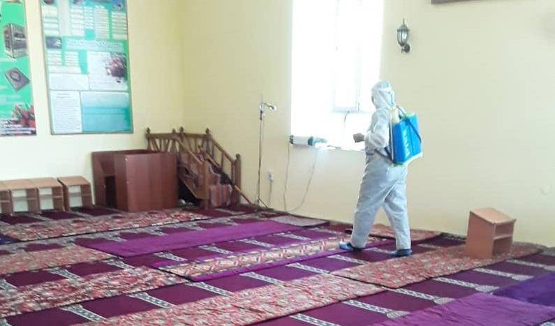 Араванда бардык мечиттер дезинфекциялоодон өткөрүлдү