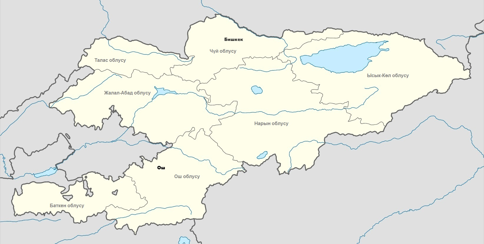Кыргызстандын картасы